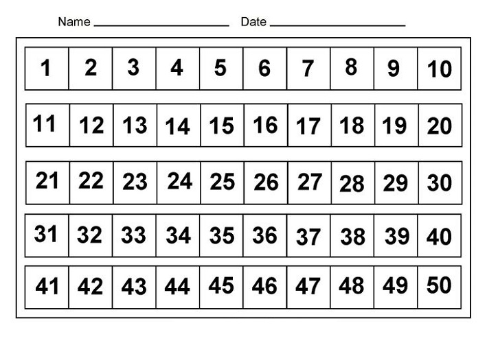 It's just a photo of Luscious Free Printable Numbers 1-50