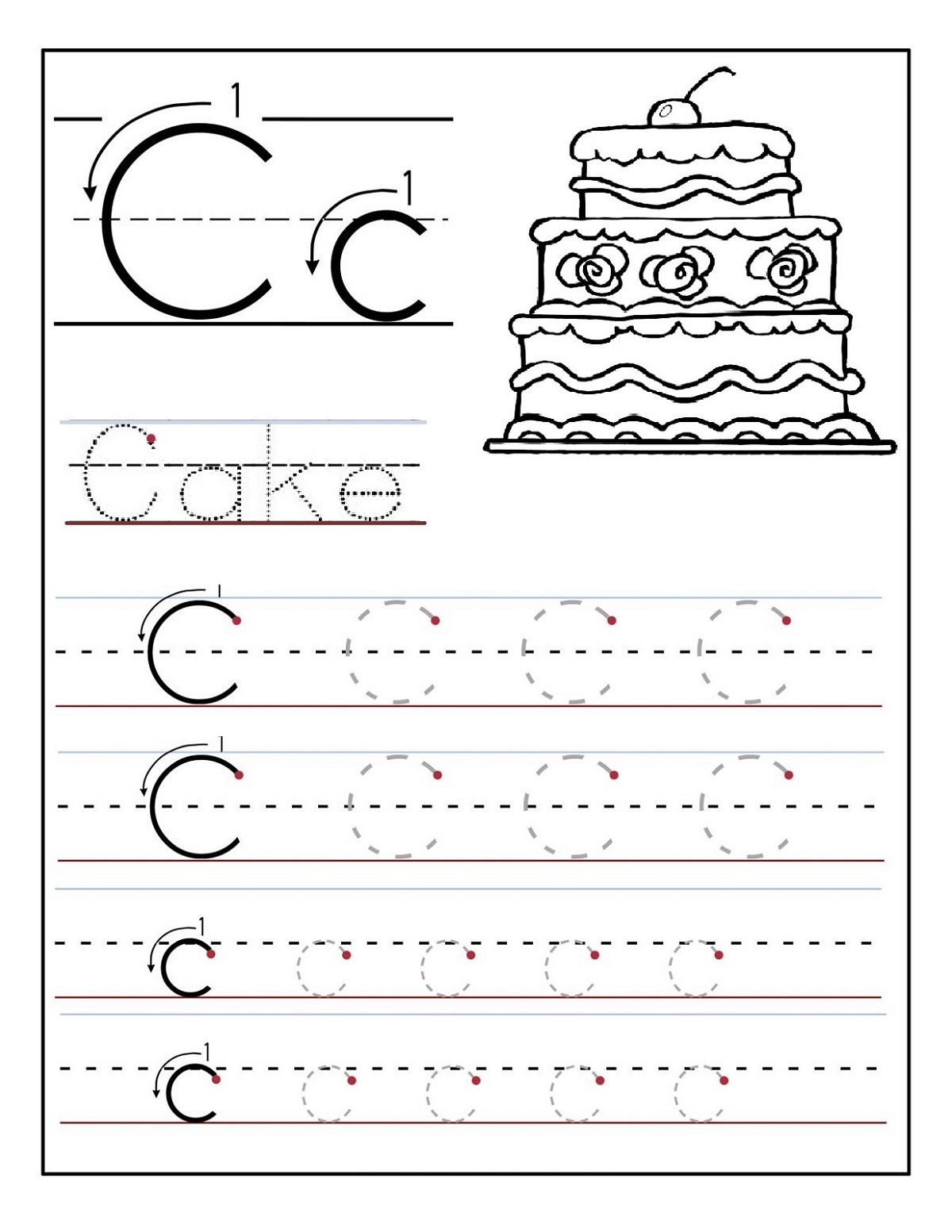 Free preschool worksheets alphabet