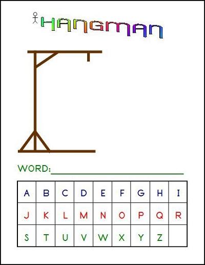 Hangman Word Game Alphabet