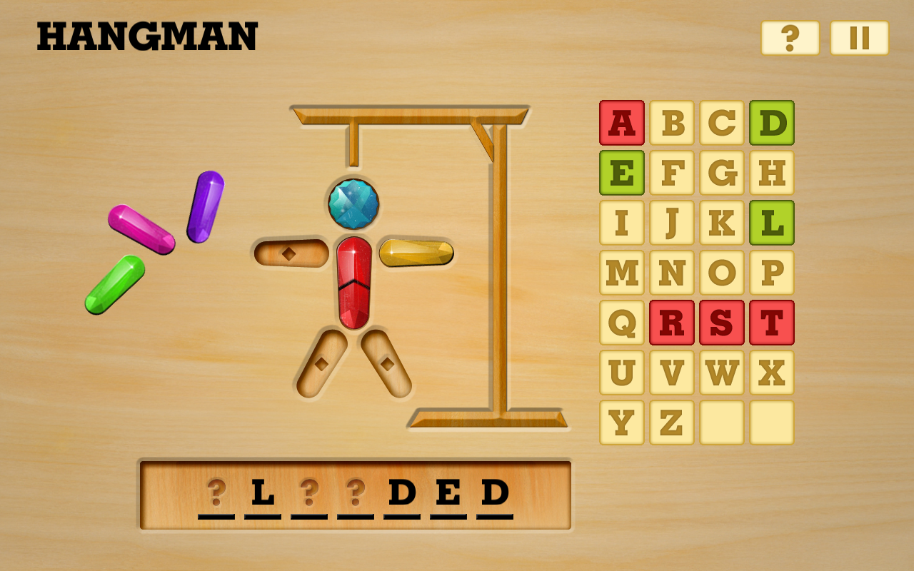 Hangman Word Game Wood