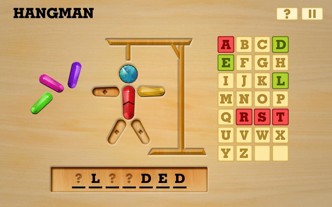 Hangman Word Game Wood