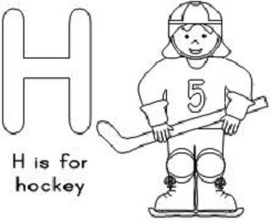 Hockey Crafts for Kids Bingo