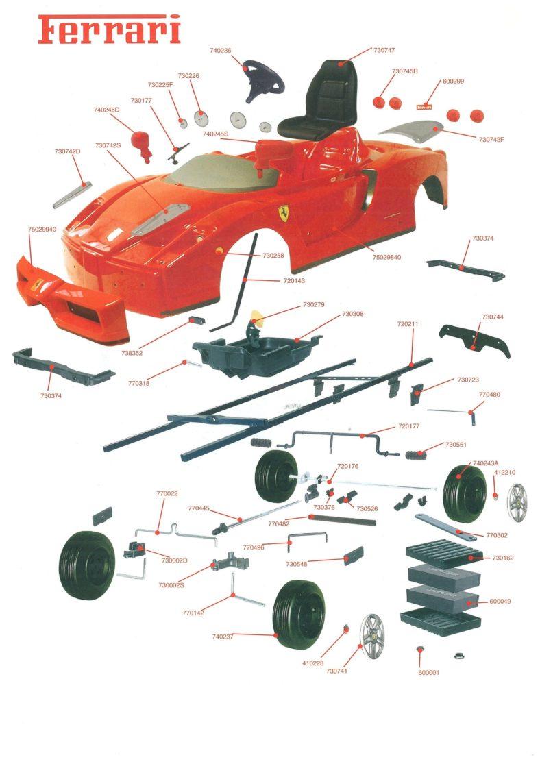 Kids Cars and Parts Ferrari