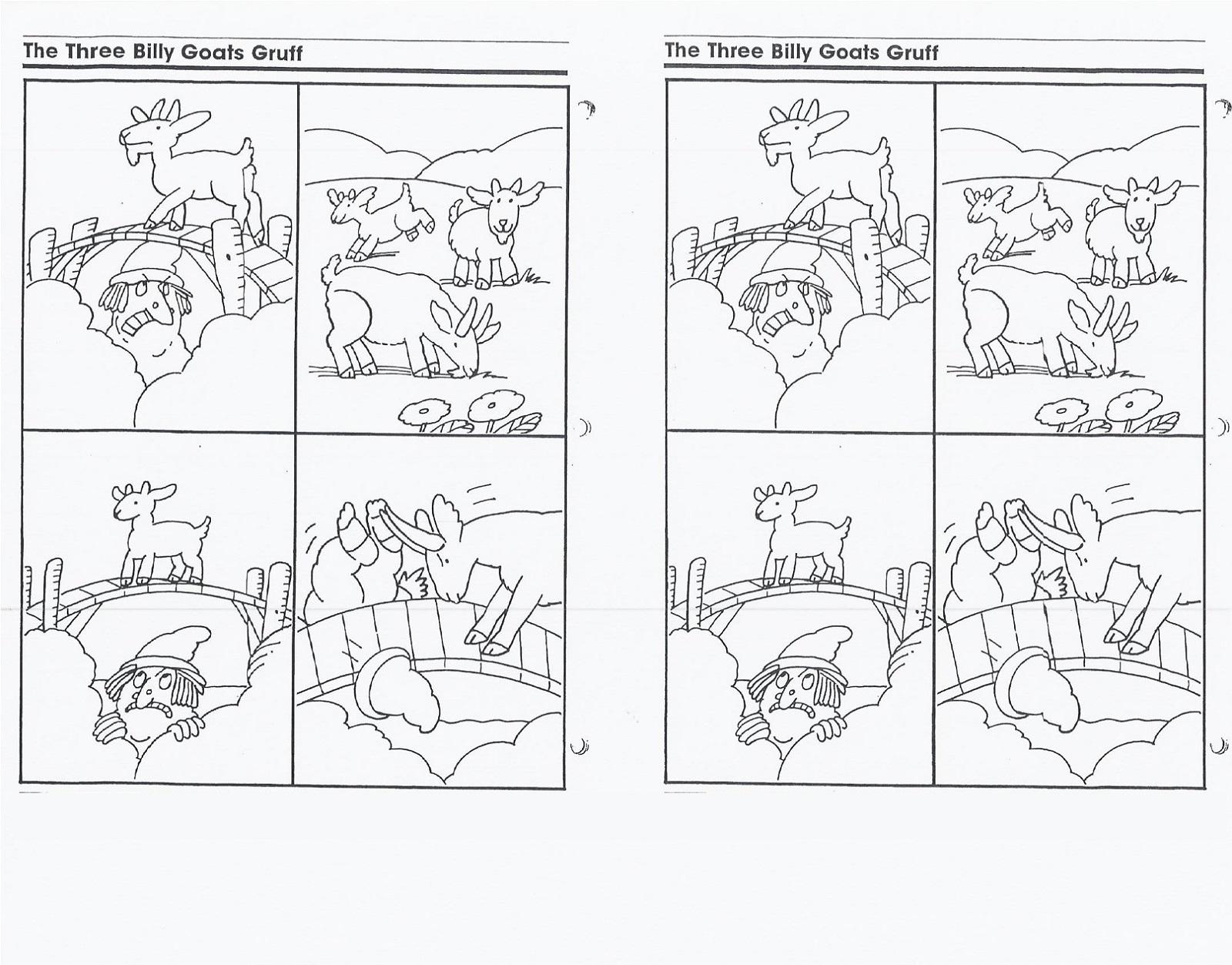 3 Billy Goats Gruff Activities Kids
