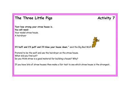 3 Little Pigs Resources Activity