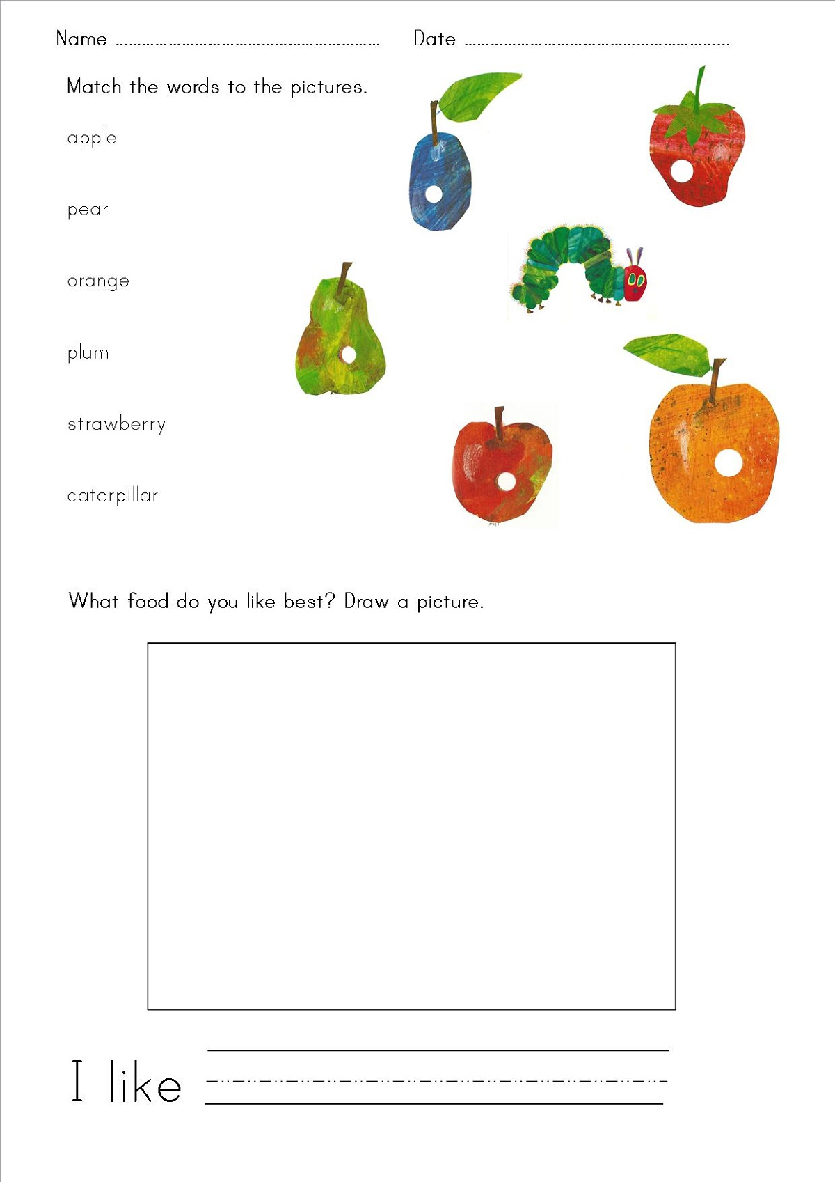 Free Printable Resources Fruit