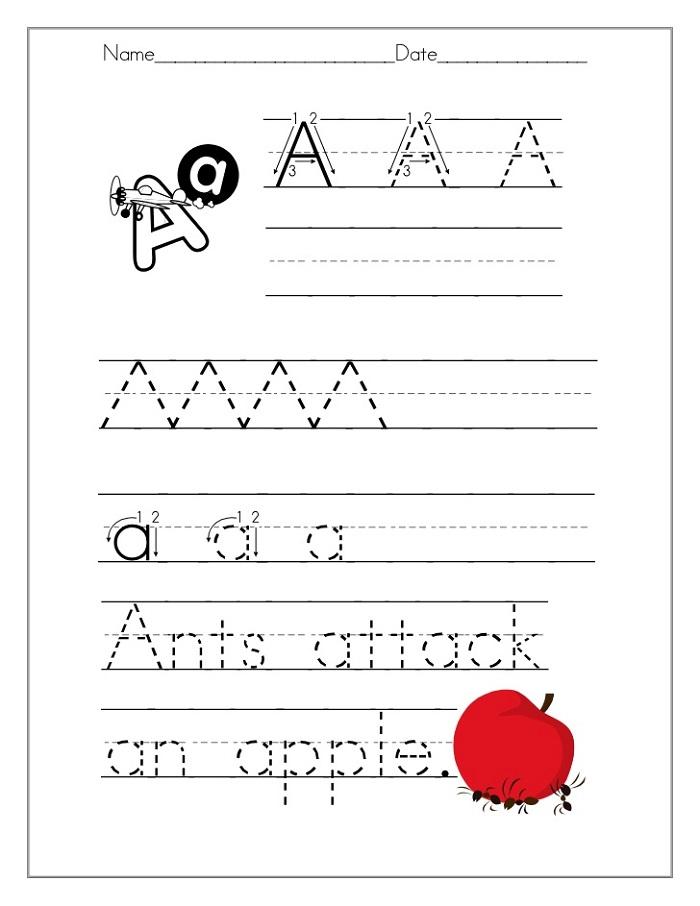 Head Start Worksheets Alphabet