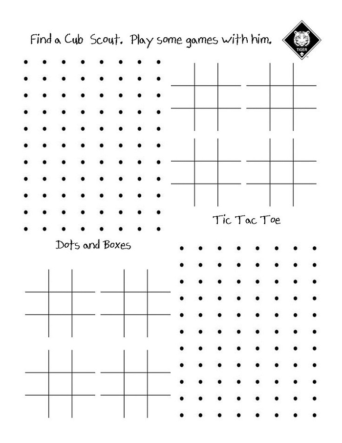 Pencil and Paper Games for Kids Scouts