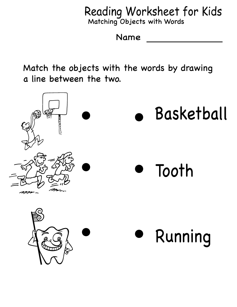 Free Kids Activity Sheets Reading