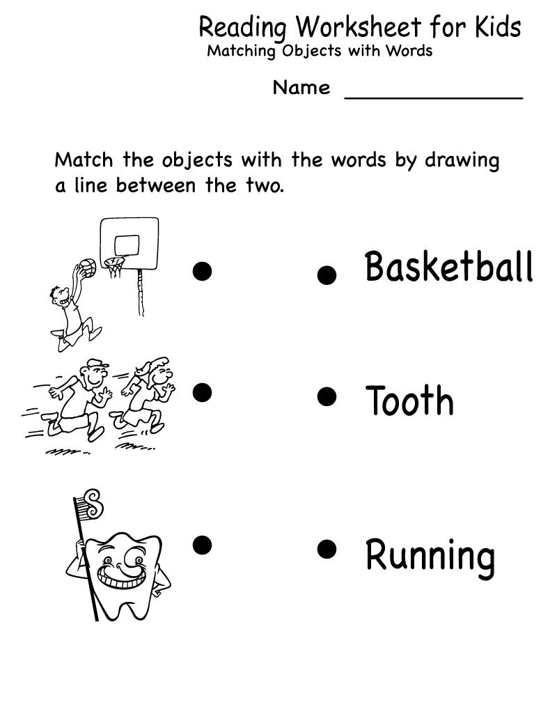 Free Kids Activity Sheets Reading