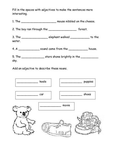 Free Printable Elementary Worksheets Sentences