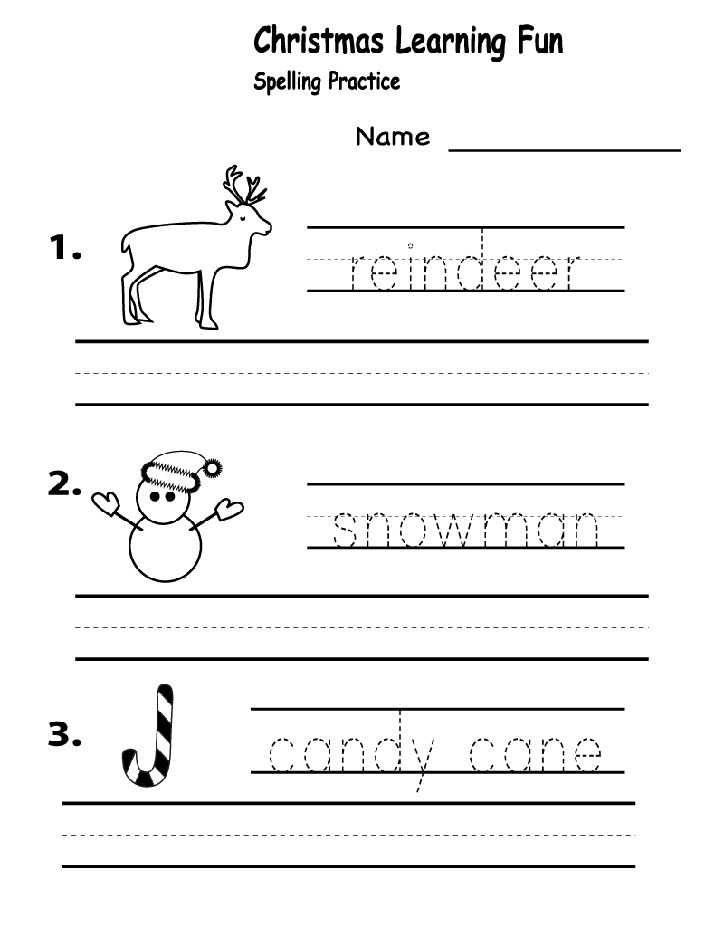 Free Worksheets for Elementary Students Christmas