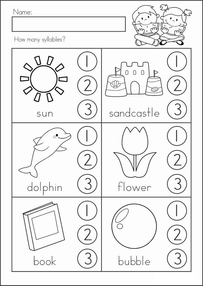 Kindergarten Tutoring Worksheets Label