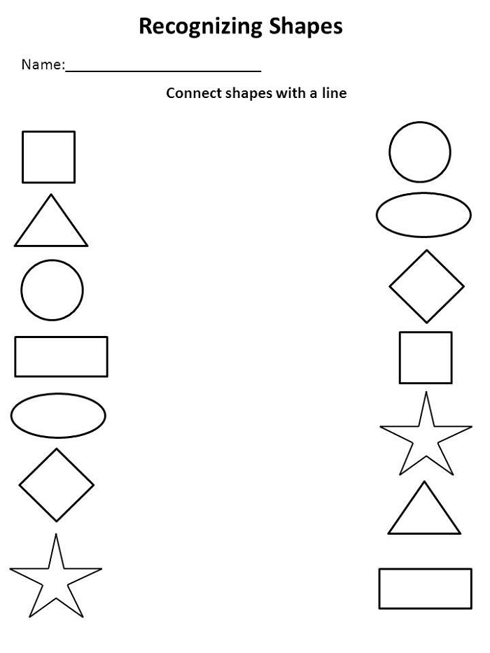 Kindergarten Tutoring Worksheets Shapes