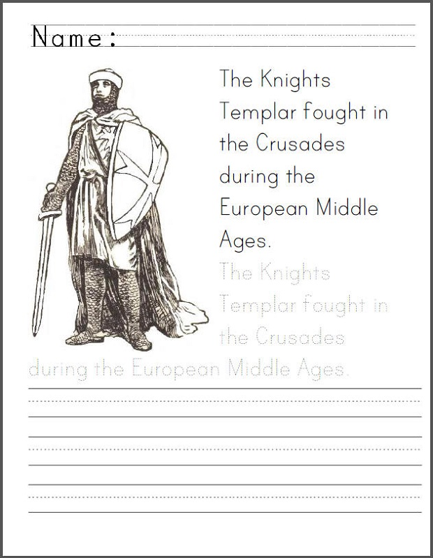 Middle Ages Activities for Kids Coloring