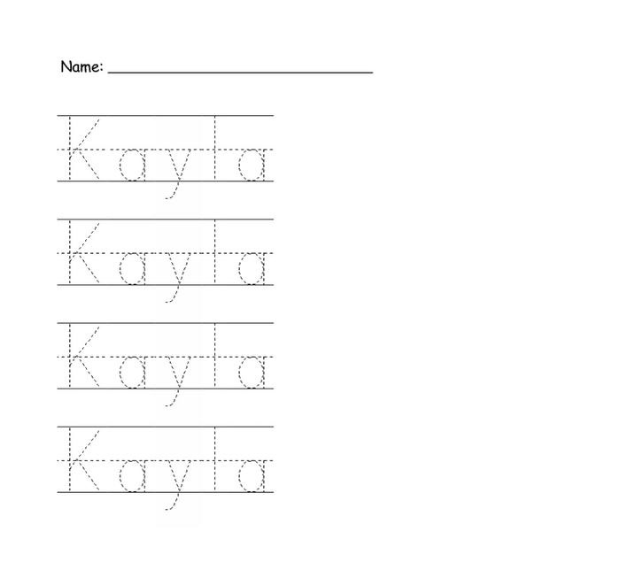 Trace Name Worksheets Page