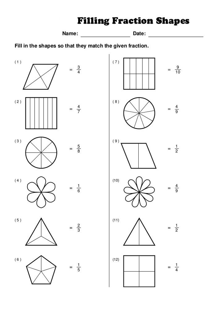 Work Sheet Works Fraction