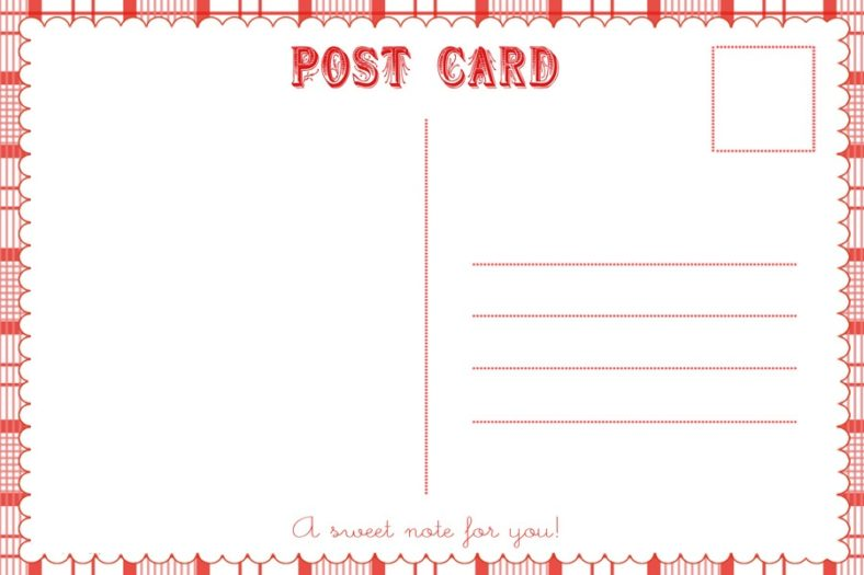 Free Printable Templates Postcards