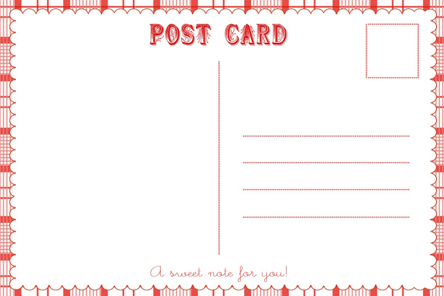 Free Printable Templates Postcards
