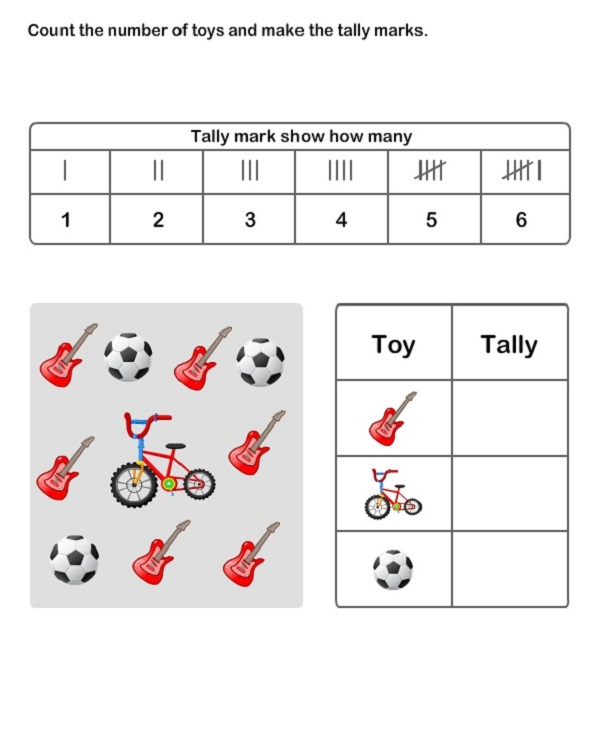 Tally Chart Worksheet Count