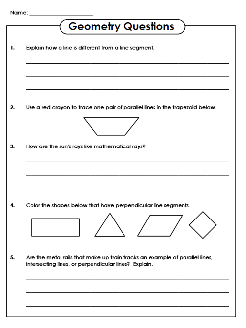 Teacher Websites Free Printable Worksheets Geometry
