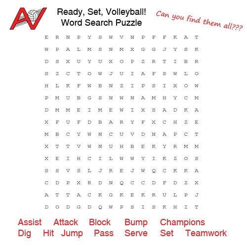 Volleyball Word Search Ready