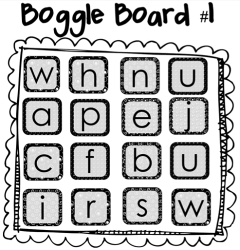 Big Boggle Rules Board