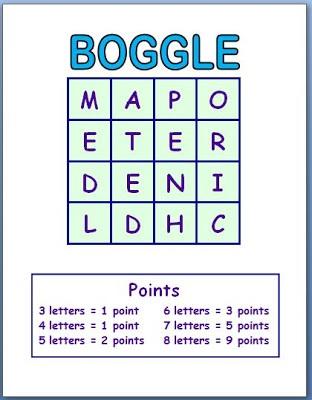 Boggle for Kids Printable