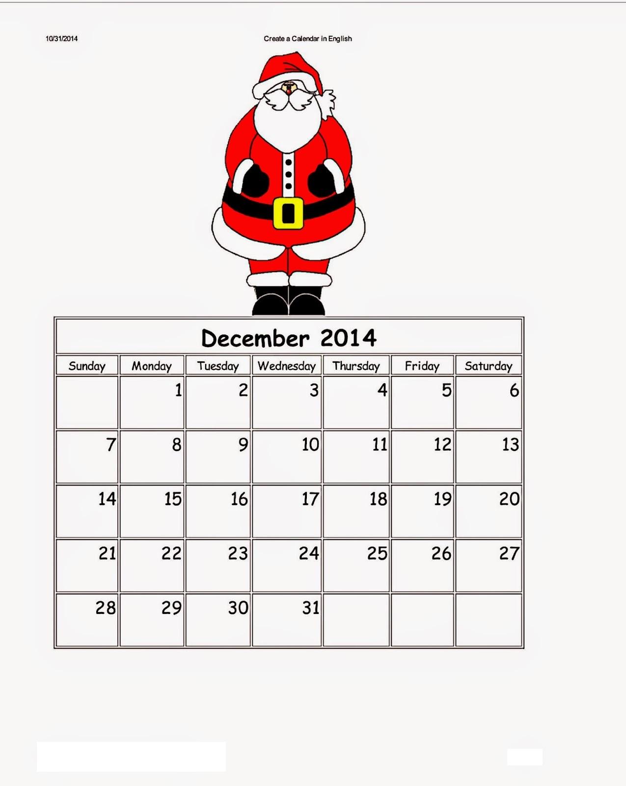 Dltk Kids Calendar December