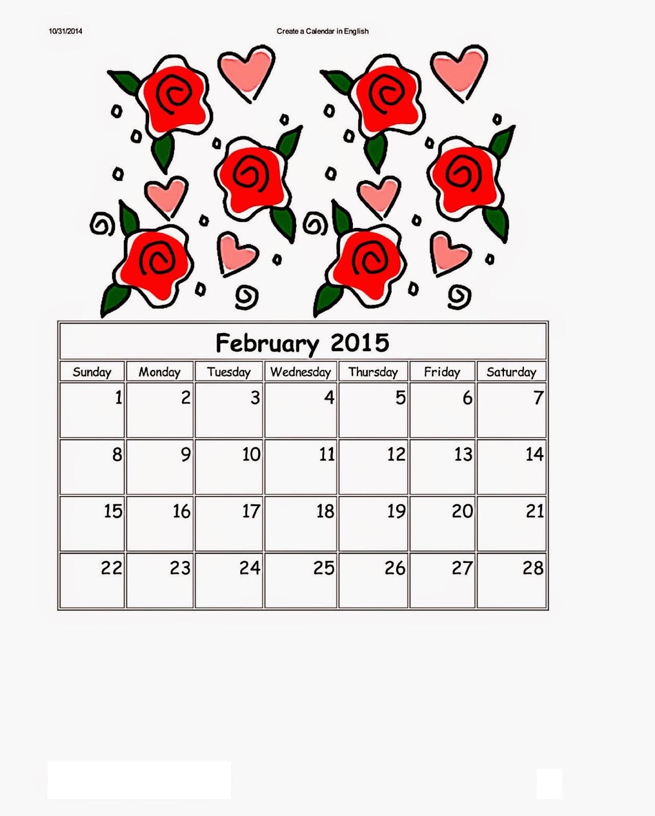 Dltk Kids Calendar February