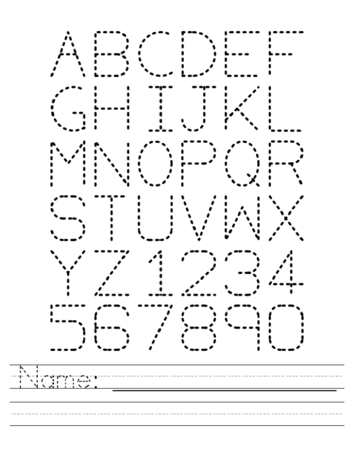 Name Trace Worksheets Alphabet