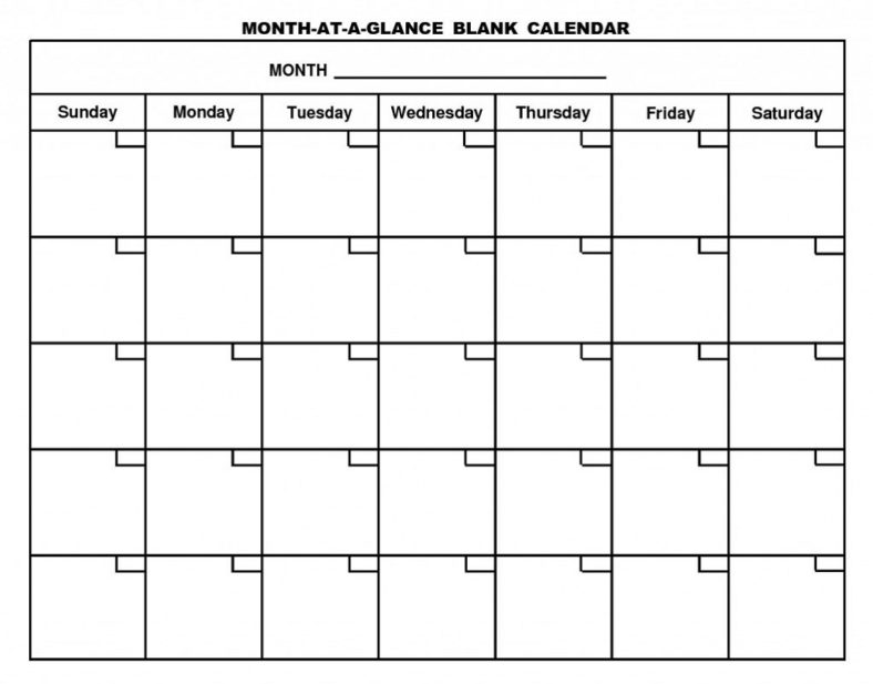 Printable Calendar Pages Blank