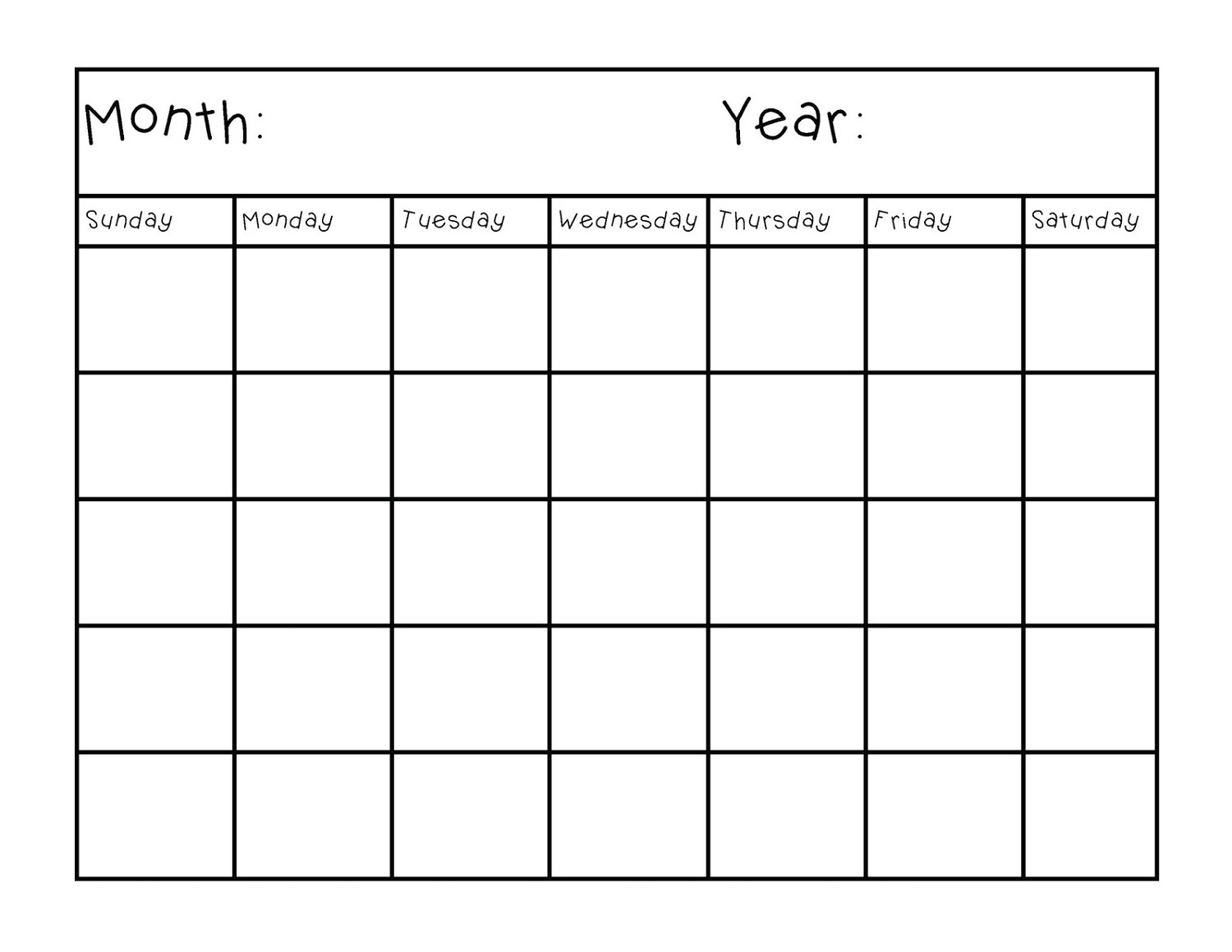 Printable Calendar Pages Monthly