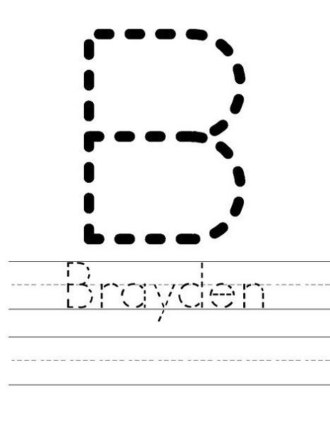 Tracer Pages for Names Brayden
