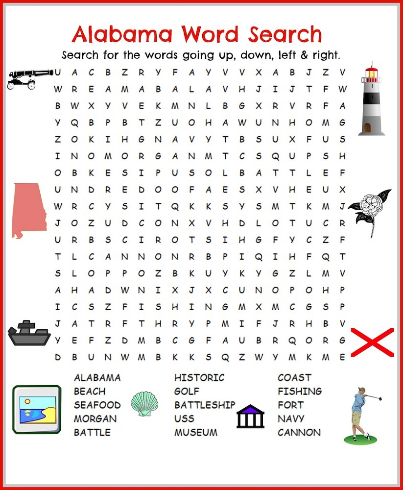 word search for children alabama