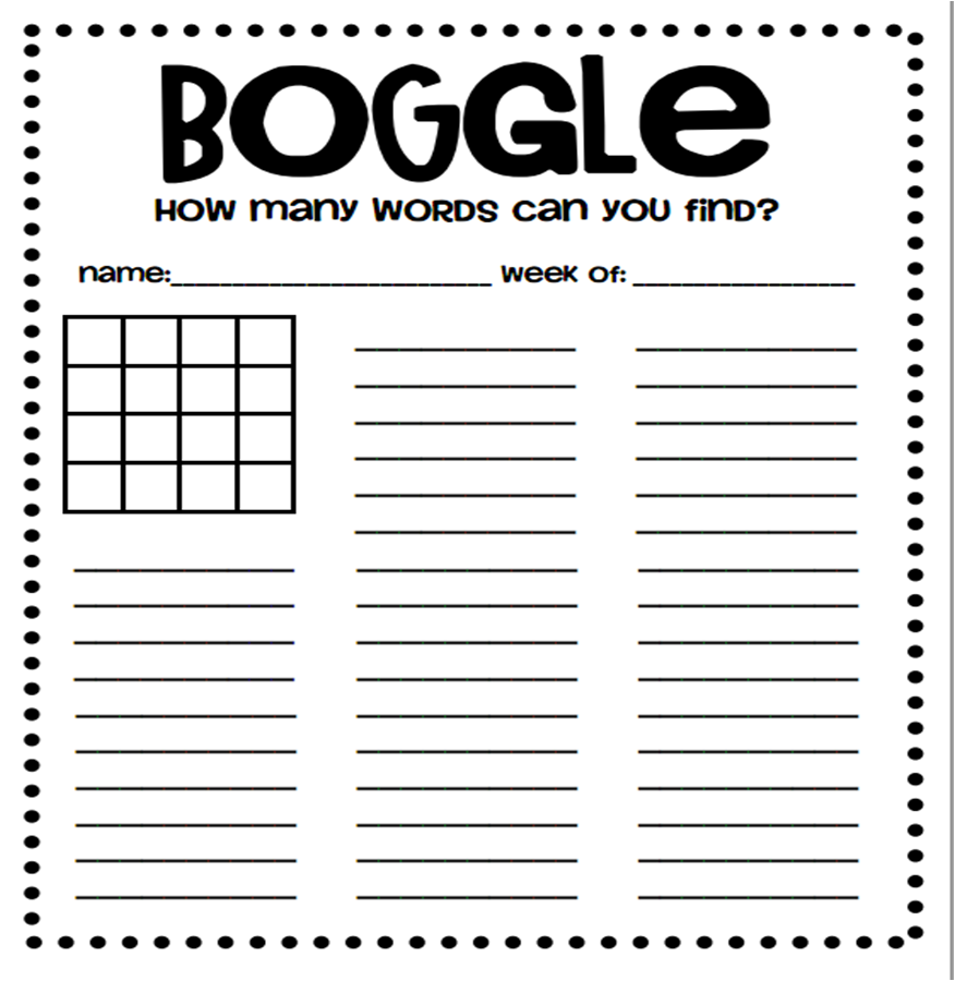 Boggle the Game Puzzle