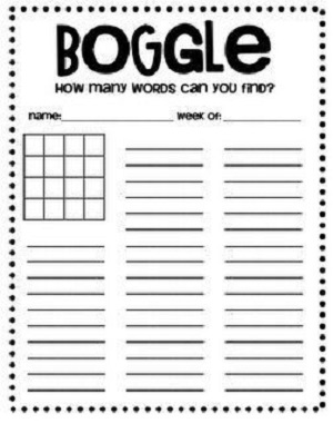 Rules for Boggle Word