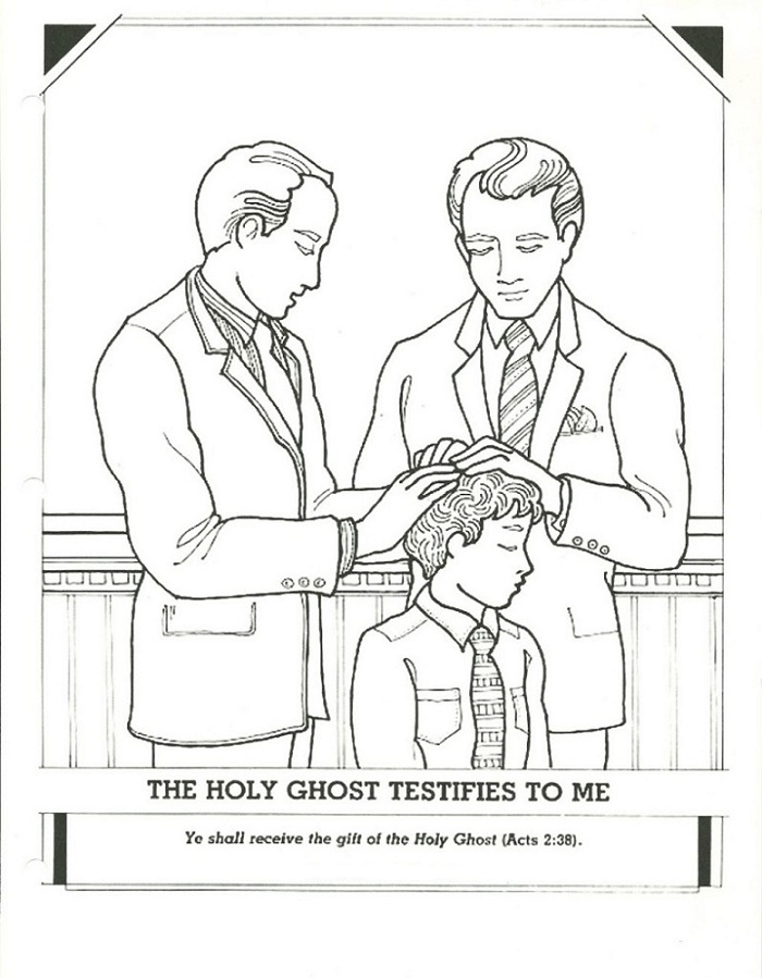 holy ghost coloring page easy