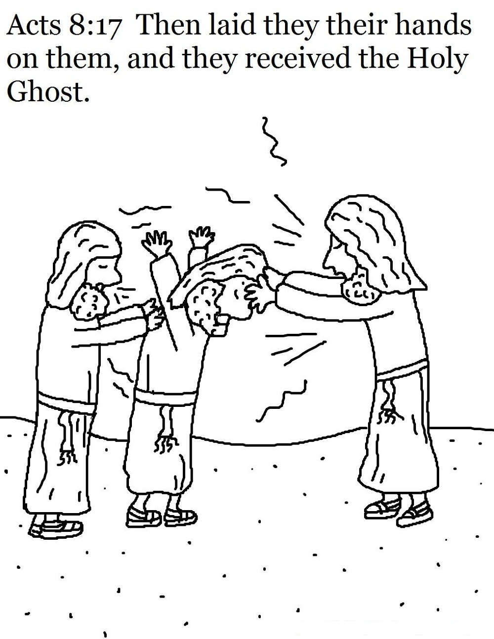 holy ghost coloring page fun