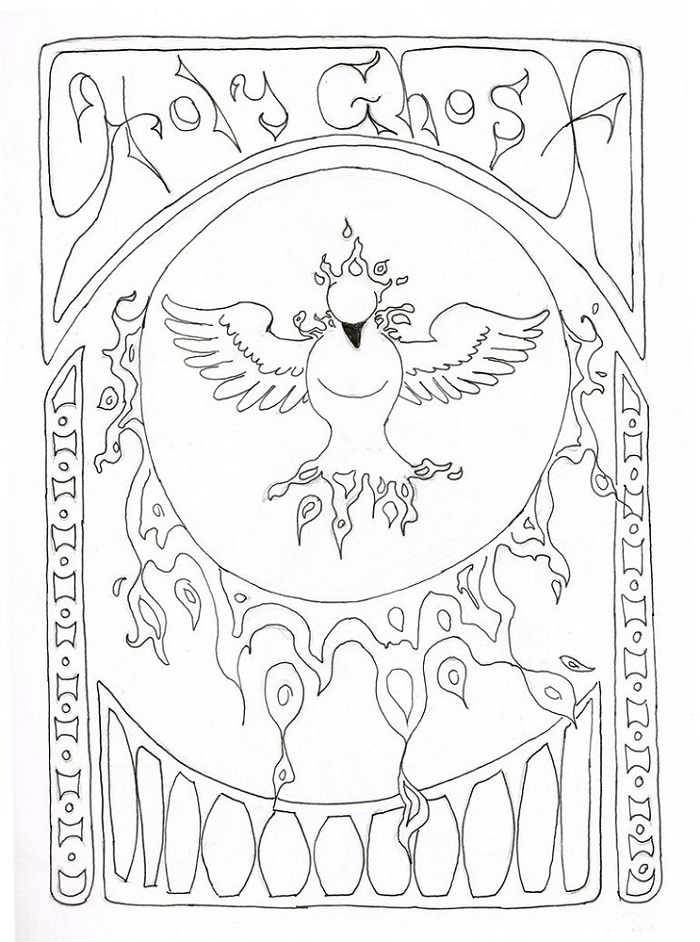 holy ghost coloring page printable