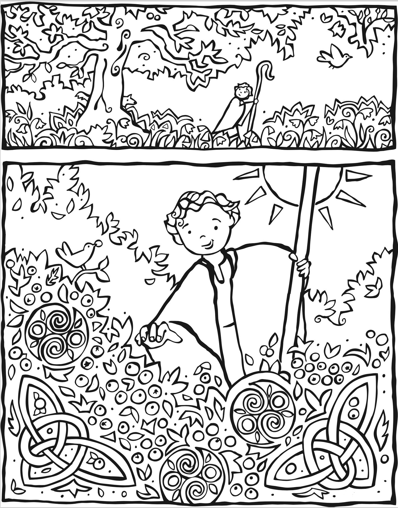 holy ghost coloring page template