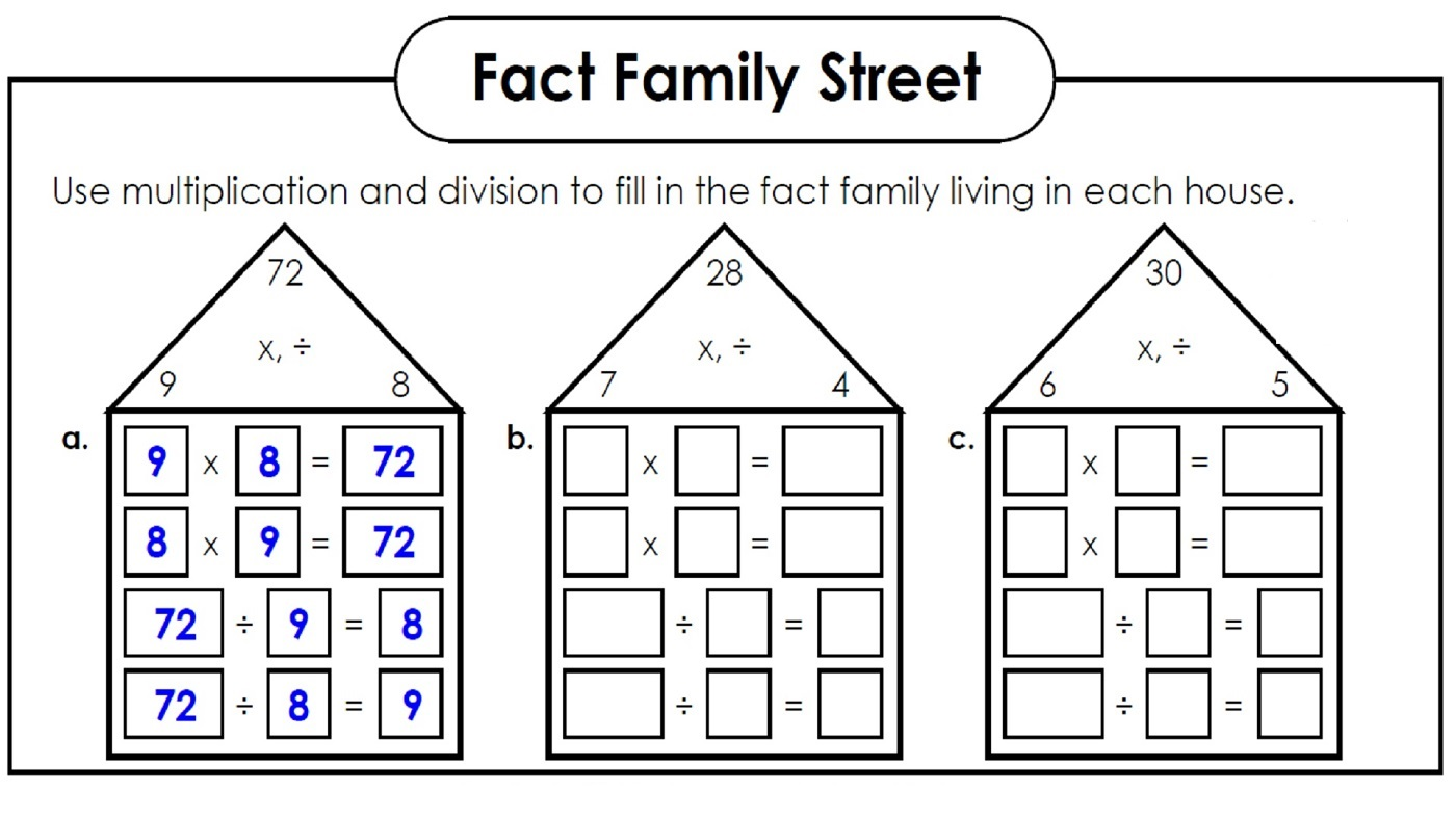 fact families worksheets fun