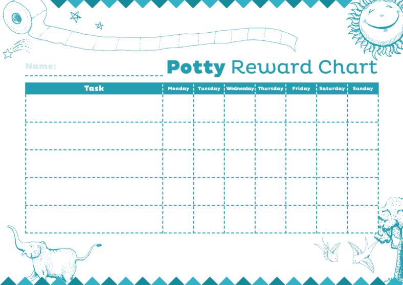 potty reward chart daily