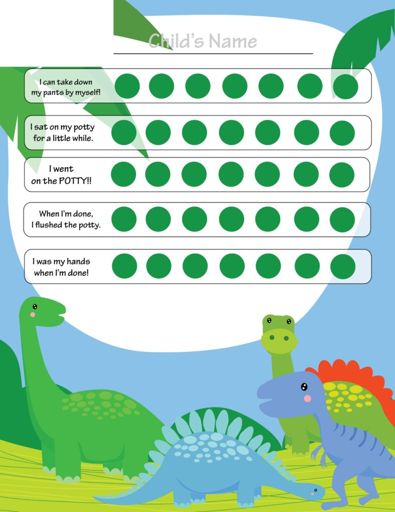 potty reward chart dinosaurus