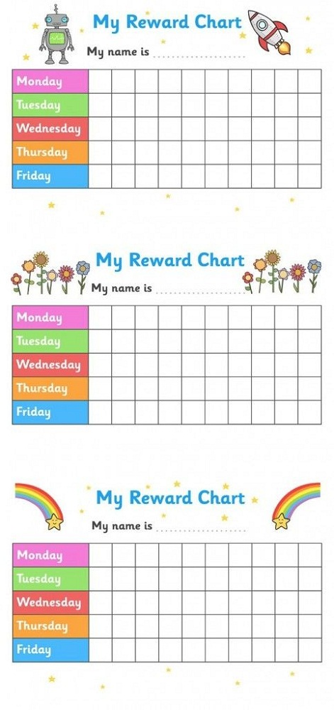 preschool reward chart daily