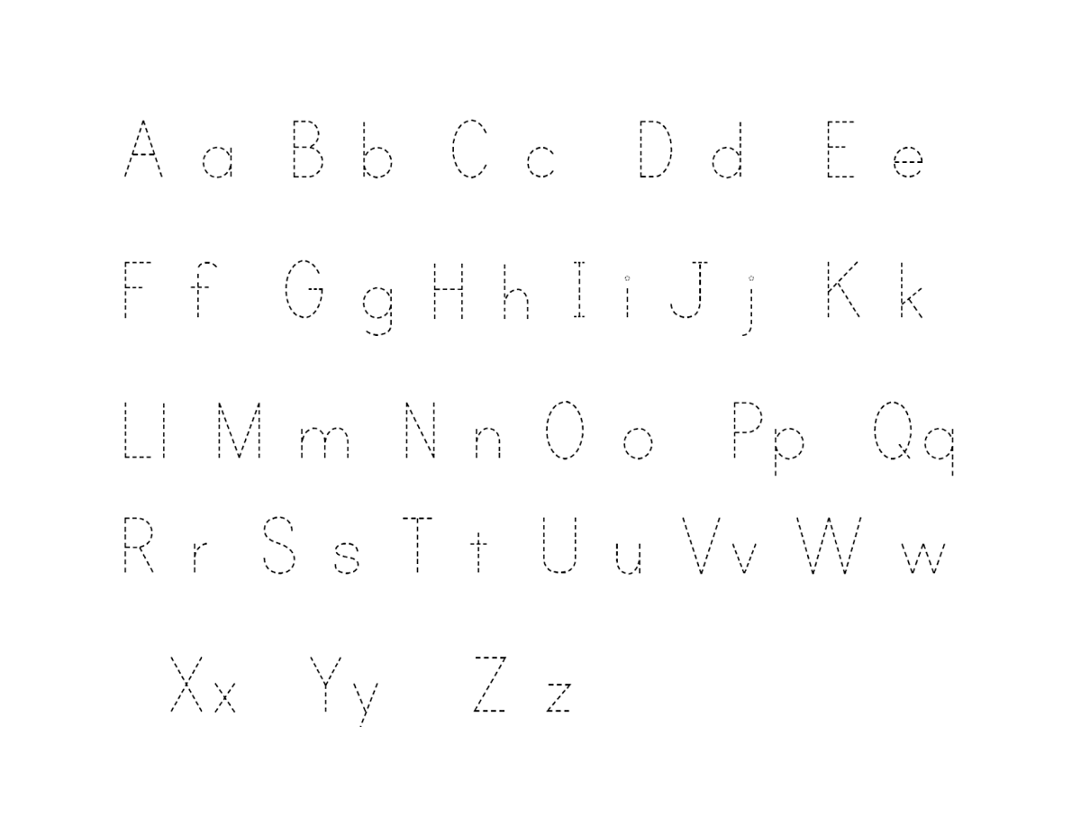 alphabet letter tracing printables easy