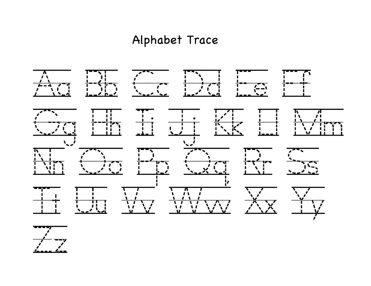 alphabet letter tracing printables fun