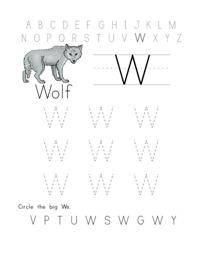 alphabet letter tracing printables worksheet