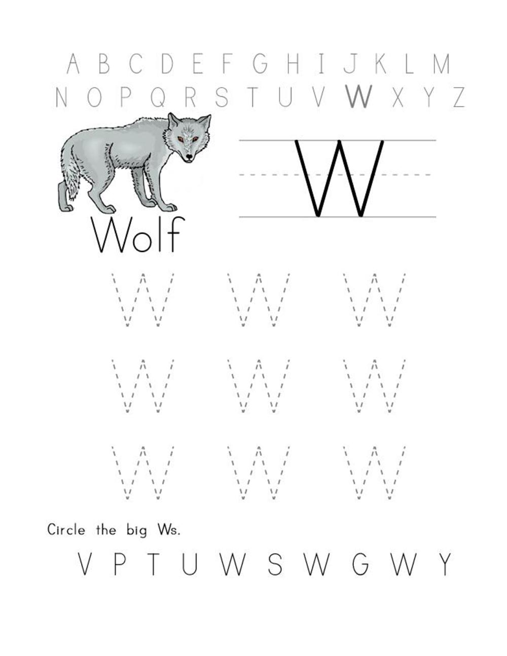 alphabet letter tracing printables worksheet