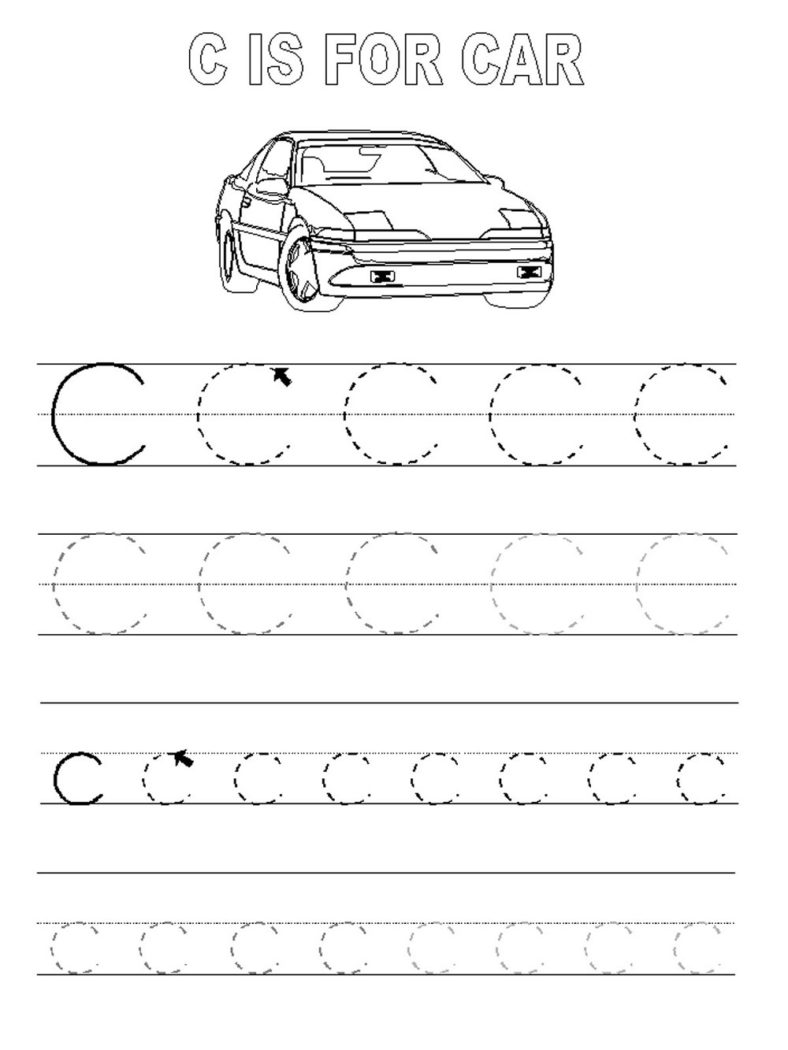 abc trace worksheet printable